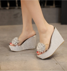 Shoes, wedge, Sandals, Jewelry