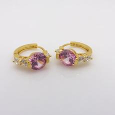 pink, yellow gold, Hoop Earring, Jewelry