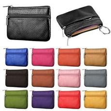 Genuine, Zip, Wallet, leather