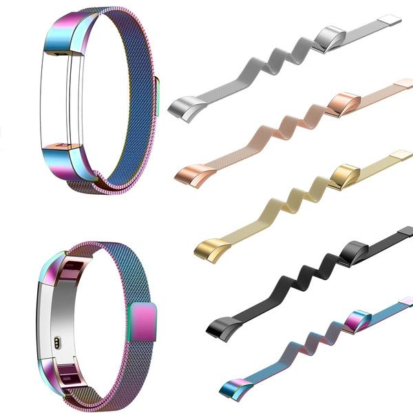 Steel, Stainless, Stainless Steel, milaneseforfitbitaltahrwatchband