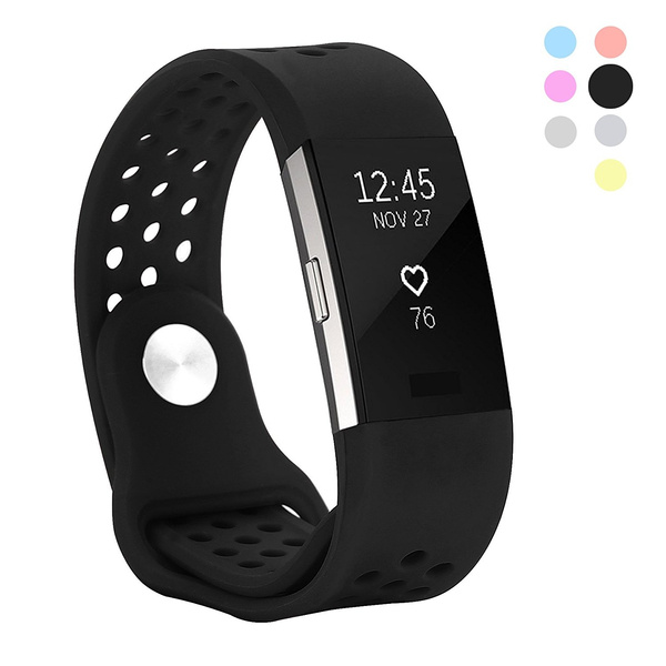 Replacement Fitness Accessory Silicone Wristb Hanlesi Band for Fitbit Charge 2