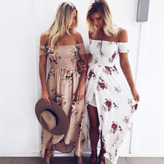 Summer, Floral print, long dress, Dress