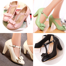 Heels, tstrapheel, Plus Size, Womens Shoes