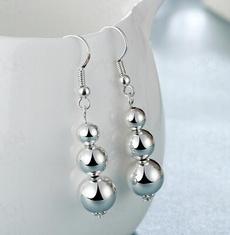 Sterling, Tassels, Moda, Silver Earrings