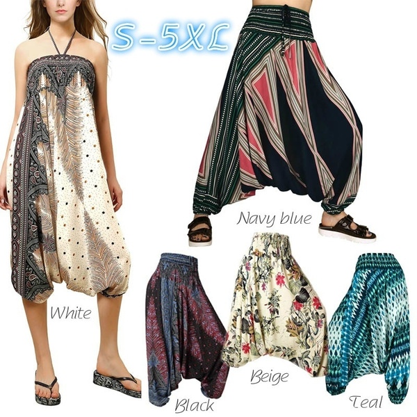 harem, halterneck, hippie, pants