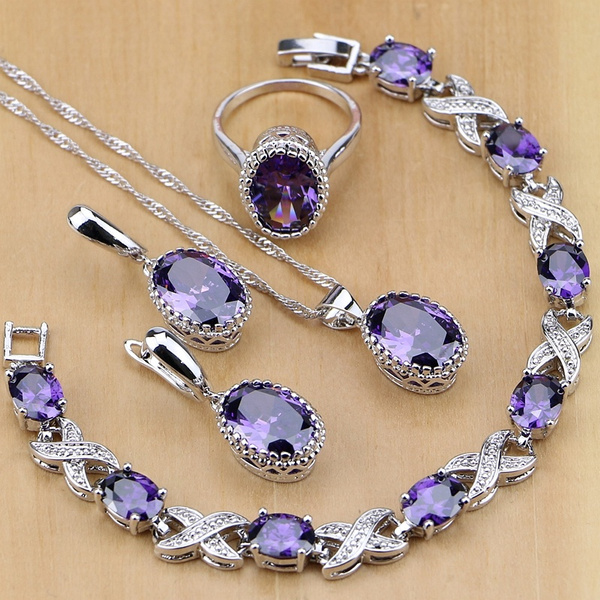 Amethyst Jewelry Set Amethyst in Silver Amethyst Jewelry Set