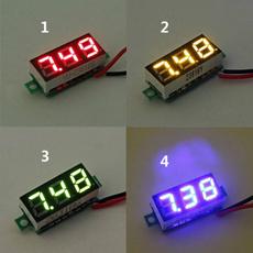 Blues, gaugemeter, led, voltimetro