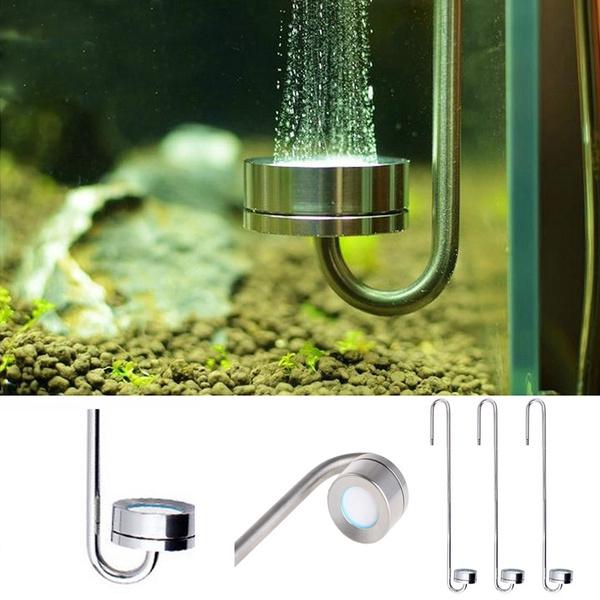 Steel, co2, diffuser, aquariums