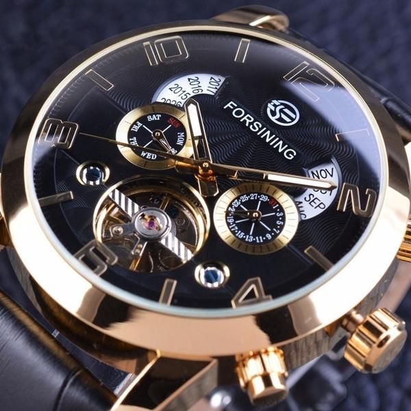 Mechanical Watches, leatherstrapwatch, leather strap, automaticselfwindwatche