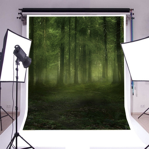 10x6.5ft Fresh Forest Background Green Nature Deer Backdrop Photography Props Photo Studio Supplies LHFU280
