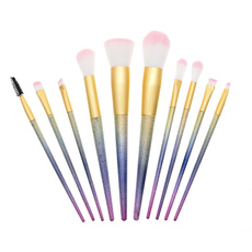 foundationpowderbrush, Professional Makeup Brush Set, cosmeticbeautytool, rainbowmakeupbrushes