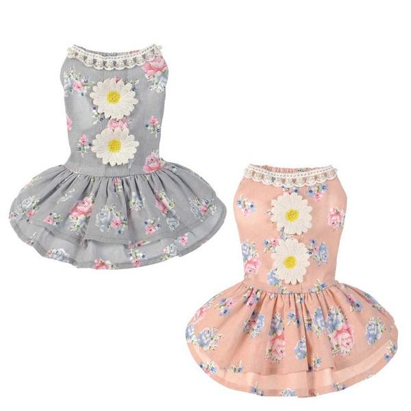 dog dresses, puppy, cottonclothe, Lace