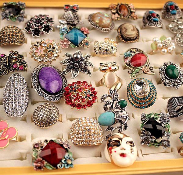 Box, Women Ring, Jewelry, retro ring