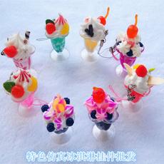 cellphone, Key Chain, Ice Cream, Food
