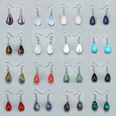 Turquoise, quartz, Dangle Earring, Jewelry