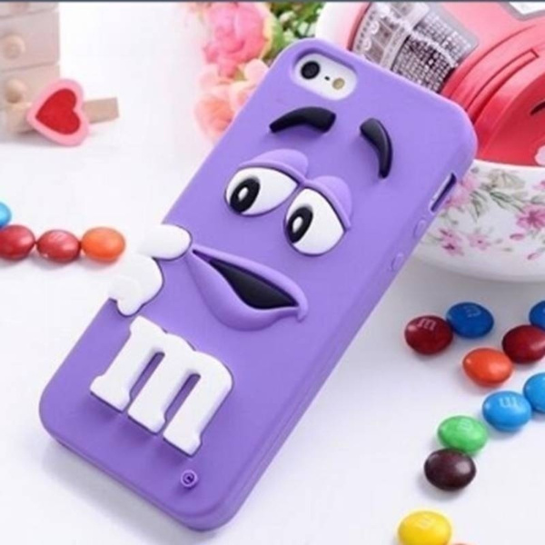 3D M&M Chocolate Soft Silicone Rubber Gel Back Case Cover for Ipod Touch 5/6 Iphone 4S/5S/6 6S/6 Plus 7/7 Plus for Samsung Galaxy S8/S4/S5/S6/S6 ...