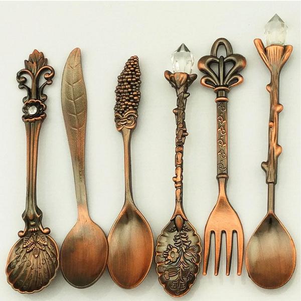 Antique, Forks, Coffee, Set