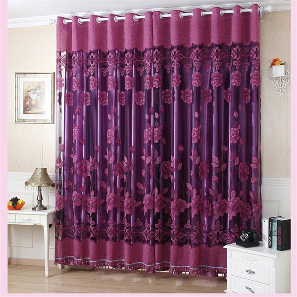 Polyester, Home textile, curtainssunflower, tulle