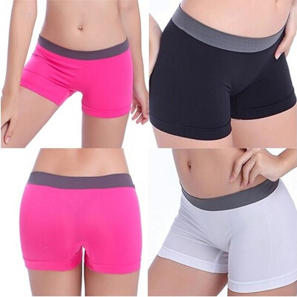 Summer, Shorts, Yoga, Elastic