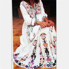 Summer, Long Sleeve, Dress, Floral dress