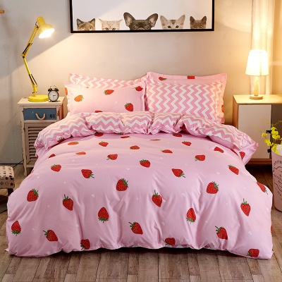 Pink Bed Pillowcases Duvet Cover, Pink Bedding Full Size