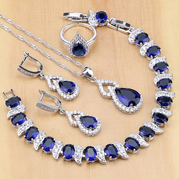 Blues, 925silvernecklacependant, Earring, Women's Fashion