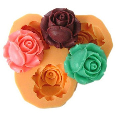 Flowers, chocolatemold, Silicone, Rosa