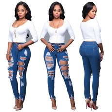 pants, Denim, slim, Women's Fashion
