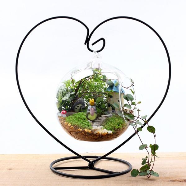 Plants, Home Decor, heartshapedpattern, Glass