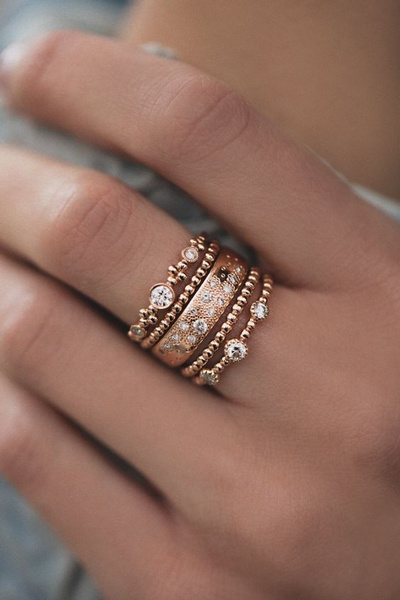 stackablering, Jewelry, gold, Women jewelry