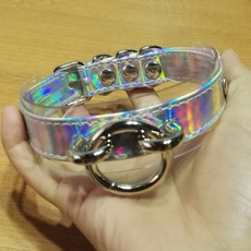 ring necklace, Holographic, kawaiinecklace, Handmade