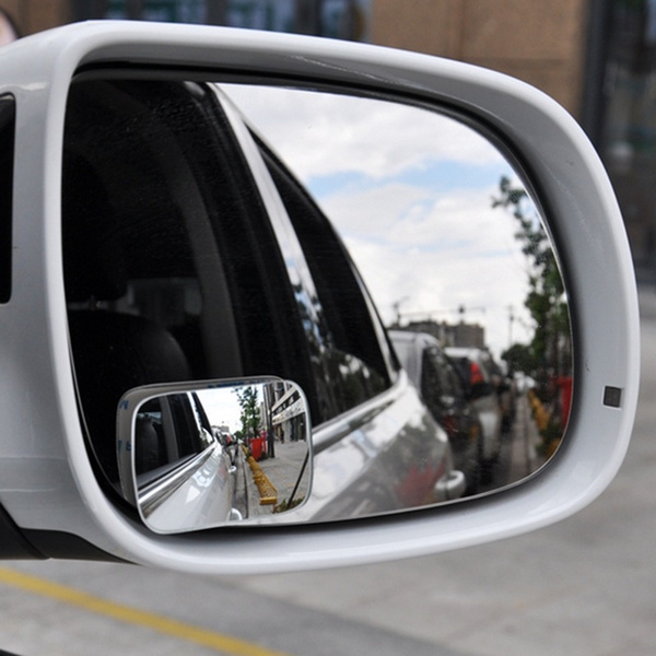 2Pcs universal car 360° wide angle convex rear side view blind spot mirror Gwr