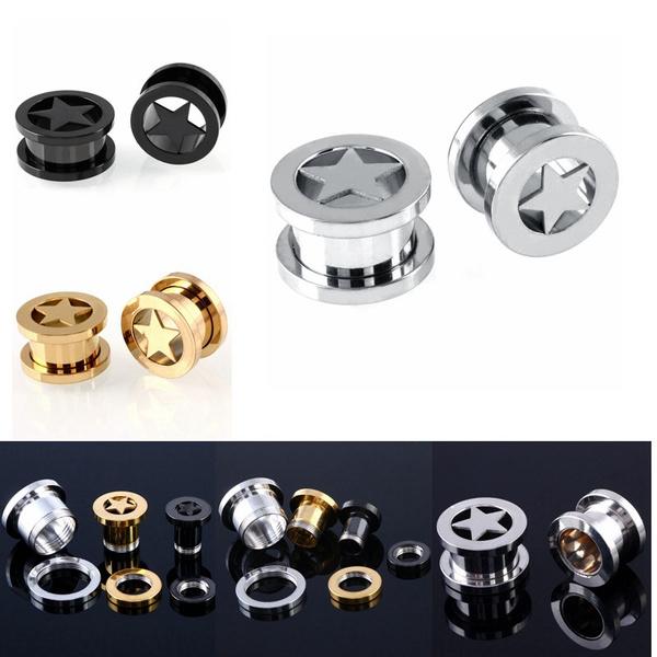 Steel, Jewelry, earexpander, Earring