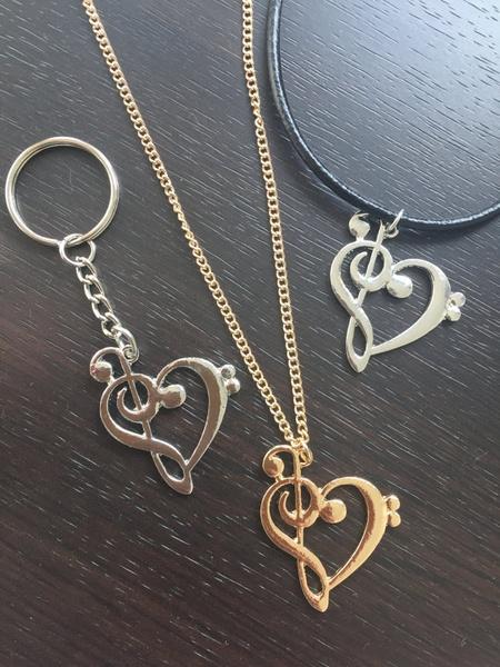 monogram, musicjewelry, Key Chain, Jewelry