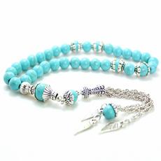 Bead, 8MM, Turquoise, Fashion