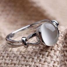 crystal ring, wedding ring, Moonstone, Fashion