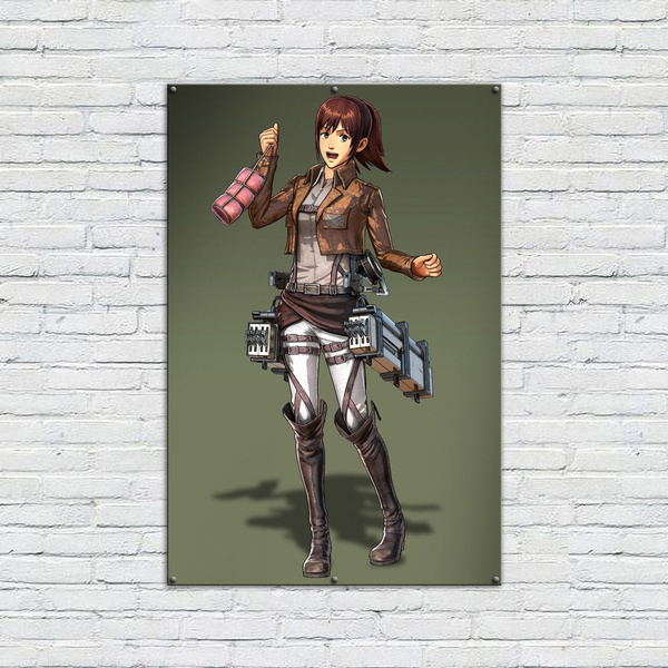 Attack On Titan Sasha Poster For Room Background Wall Decoration High Definition Anime Shingeki No Kyojin Canvas Print Painting For Home Decor Wall Art Wish