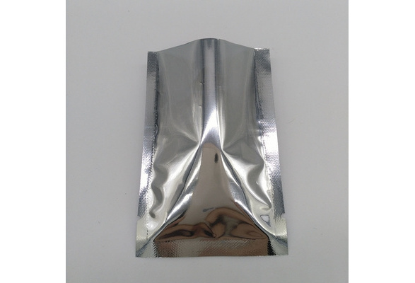 Large Size 100 pcs of Silver Aluminum Foil Seal Packing Bag