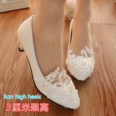 Flowers, Lace, Bride, wedding shoes