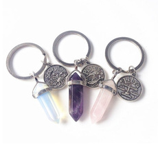 crystalkeychain, keyholder, quartz, Key Chain