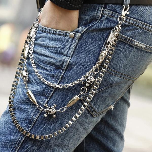 Fashion, Chain, skull, trouserschain