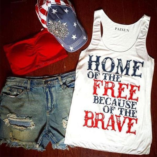Vest, Tank, letterprinting, Sleeve