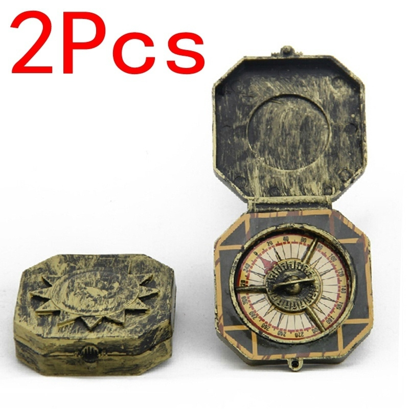 Nautical Compass Pirate Captain Costume Halloween Party Cosplay Decoration Toys