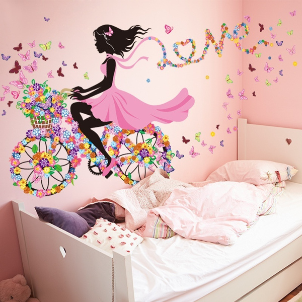 PVC wall stickers, roomsticker, girlsbedroomdecor, Romantic