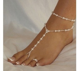 cute, pearl jewelry, Fashion, Anklets
