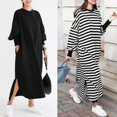 Bat, Plus Size, Sleeve, long dress