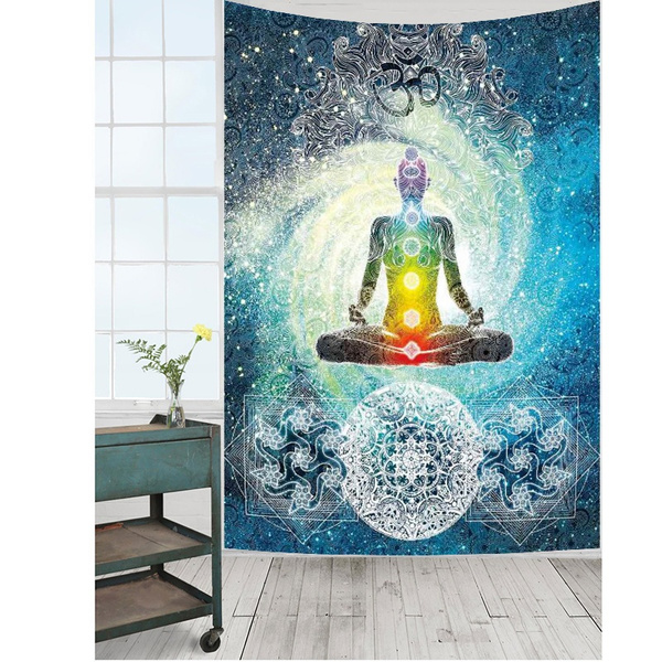 Decor, Yoga, mandalatapestry, Home & Living
