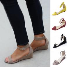 Wedge Sandals, Summer, flatshoesforwomen, Women Sandals