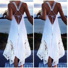 Fashion, halter dress, Lace, Dresses