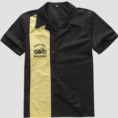 fashion Mens Shirts, 50srockabilly, motorbike, hotrod